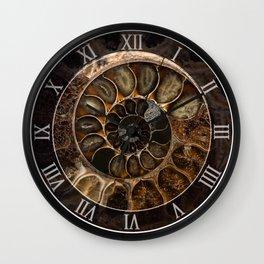 Earth treasures - Fossil in brown tones Wall Clock