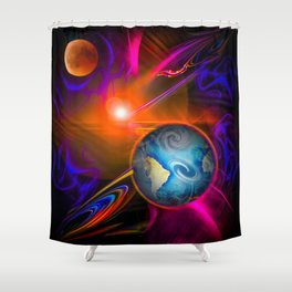 Full moon - Fascination Blood moon - Abstract Shower Curtain