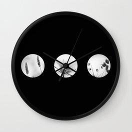 trio of flowers  Wall Clock