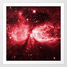 Star Angel Red Art Print