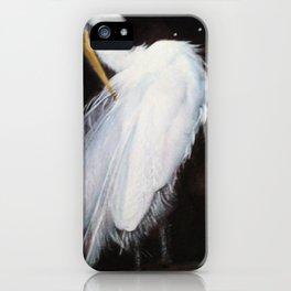 North Carolina Great Egret Painting  iPhone Case