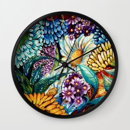 Flowers and Wild Nature Wall Clock