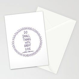Do Small Things Stationery Cards