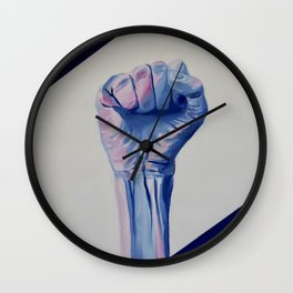 Resist fist, Trans Pride resist fist, Transgender art Wall Clock