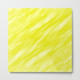 A fluttering cluster of yellow bodies on a light background. Metal Print