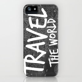 Travel The World Map Design iPhone Case