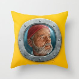 Steve Zissou Throw Pillow