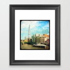 The Shard and The Thames - London Framed Art Print