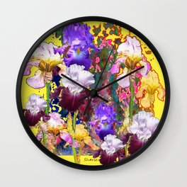 Decorative Blue-Red Spring Yellow & Wall Clock