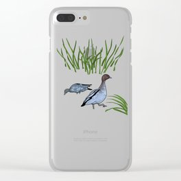 Australian Wood Duck Clear iPhone Case