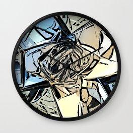 Halftones Abstract Wall Clock