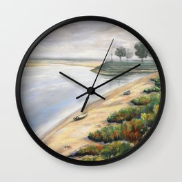Matin à Saint-Valery-sur-Somme Wall Clock
