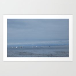 Boats in Monterey Bay Art Print