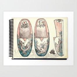 Sailor's Shoes Art Print