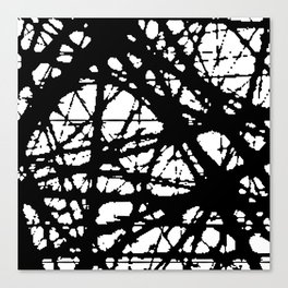 tension, black and white Canvas Print