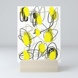 Yellow Dot Abstract Mini Art Print