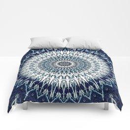 Indigo Navy White Mandala Design Comforters