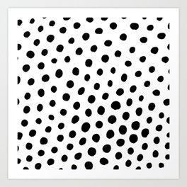 Black and White Dots Art Print