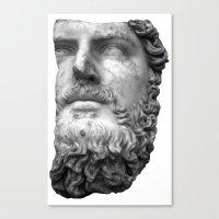 greek Canvas Prints featuring greek by bobbybard