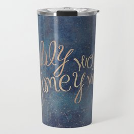 Wibbly wobbly (Doctor Who quote) Travel Mug