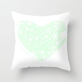 Christmas Heart Background Throw Pillow
