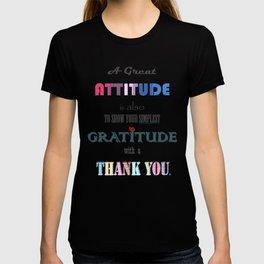 Gratitude ~ Xmas Spirit Quote T-shirt