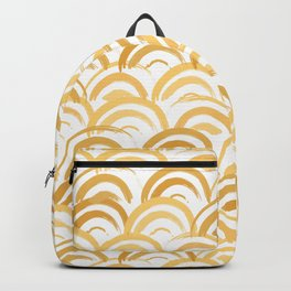 Watercolor Arches in Gold Backpack