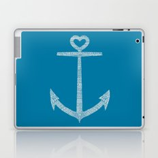 Love is the anchor Laptop & iPad Skin