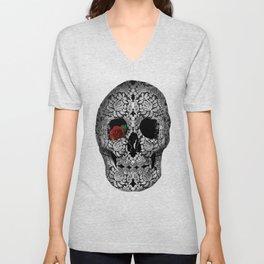 lace floral skull Unisex V-Neck