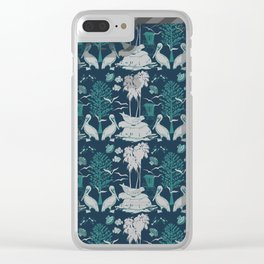 La Jolla California Beach Print Clear iPhone Case