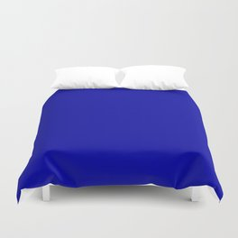 Simple Solid Color Earth Blue All Over Print Duvet Cover