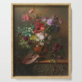 Georgius Jacobus Johannes van Os - Still life with flowers in a Greek vase - 1817 Serving Tray