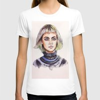 marc T-shirts featuring Cara/Marc Jacobs 2014 by vooce & kat