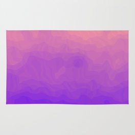Pink and Purple Ombre - Swirly Rug