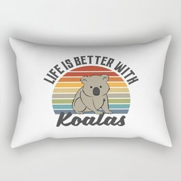 Life Is Better With Koalas Rectangular Pillow