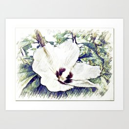 The Art Of A Hibiscus Flower Art Print