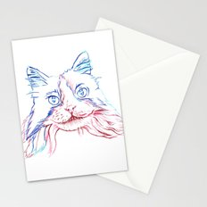 Fluffy Tuxedo Cat Stationery Cards