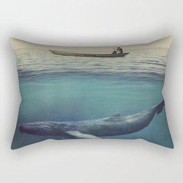 Old Sea and the Man Rectangular Pillow