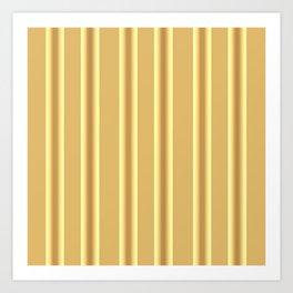 Beige Ocher  Vertical  Stripes  Background Art Print