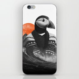 The Hipster Puffin iPhone Skin