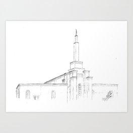 Albuquerque NM LDS Temple Art Print