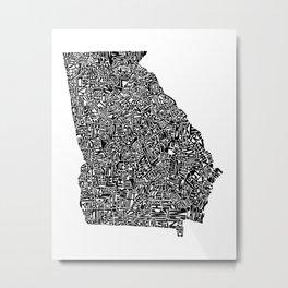 Typographic Georgia Metal Print