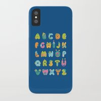 alphabet iPhone & iPod Cases featuring alphabet by lalehan canuyar