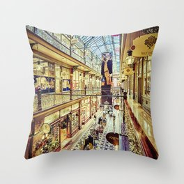 Antique Arcade Throw Pillow