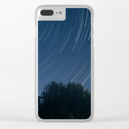 North Star - Star Trail Clear iPhone Case