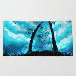 Spider's Enchanted Night Beach Towel