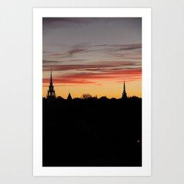 newburyport sky Art Print