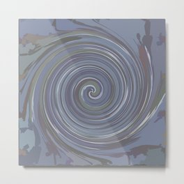 VERTIGO GREY Metal Print