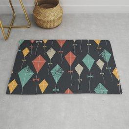 Colorful Kites Geometric Pattern Rug