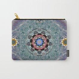 Sacred Resonance Cosmic Mandala Print Carry-All Pouch